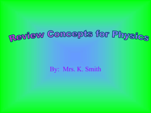 Physics Review Concepts