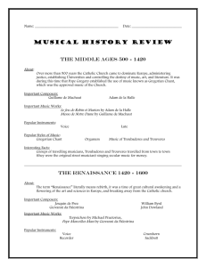 A Brief History of Music - The Middle Ages, Renaissance, Baroque