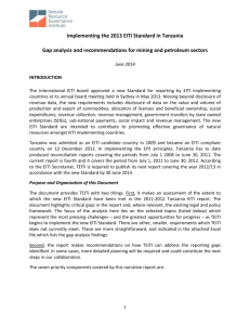 TEITI Gap Assessment Report (1) - Tanzania Extractive Industries