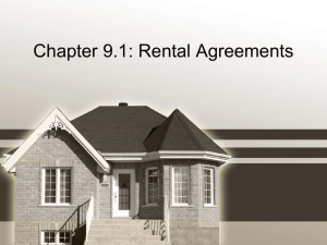 Rental Properties PowerPoint Notes