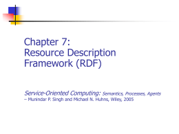 Chapter 7: Resource Description Framework