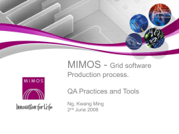 MIMOS - Ming - Open Grid Forum