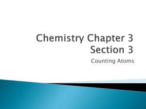 Chemistry Chapter 3 Section 2