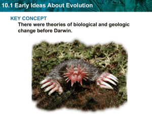 10.1 Early Ideas About Evolution