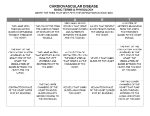 CARDIOVASCULAR DISEASE BASIC TERMS & PHYSIOLOGY