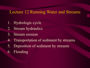 Lecture 12 Running Water and Streams