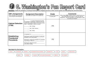 George Washington's Report Card