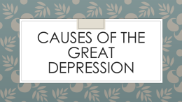 Causes of the Great Depression PPT