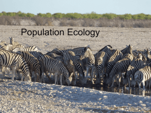 Ch. 53 on population Ecology