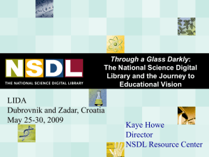 Through a Glass Darkly: The National Science Digital Library and