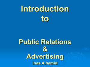 Introduction to Public Relations & Advertising