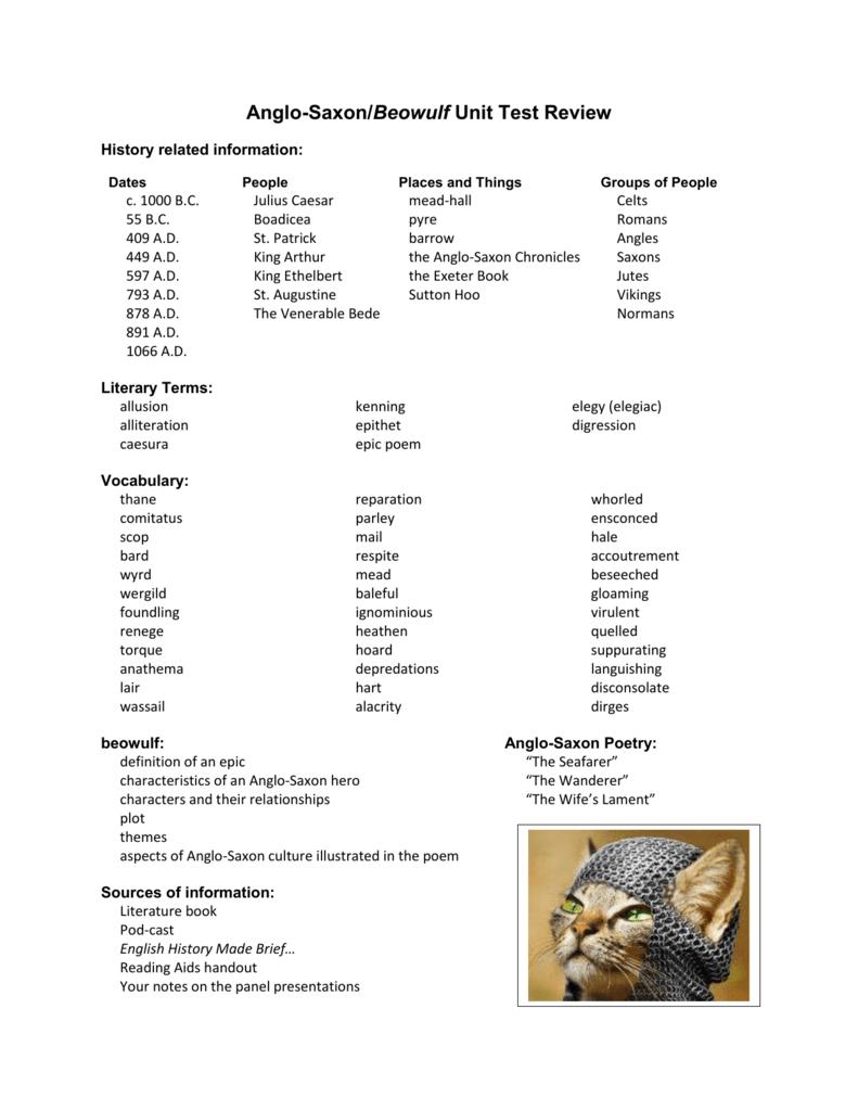 anglo saxon hero characteristics