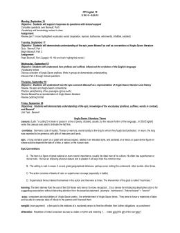 Beowulf Study Guide | GradeSaver
