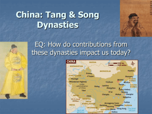 China: Tang & Song Dynasties