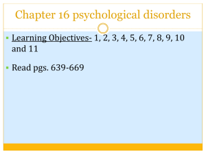 ch. 16 anxiety disorders