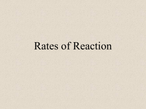 PowerPoint - Rate of Reaction - Factors, Examples