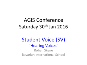 Student Voice AGIS Jan 2016 presentation