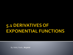 5.1 derivatives eponential functions