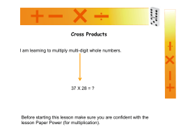 Cross Products - Teacher Tools