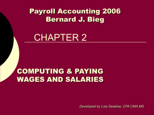 Chapter 2 -Computing & Paying Wages