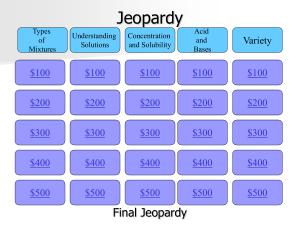 Jeopardy Review Game
