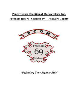 2015 Event Info Packet - Pennsylvania Coalition of Motorcyclists, Inc.