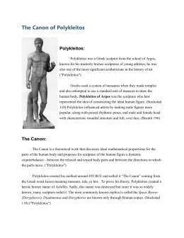 how important was polykleitos to the Why was doryphoros or spear bearer famous throughout the ancient anddisbanding the very important priesthood of the vestal virgins polykleitos share to.