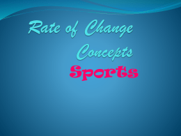 Rate of Change Concepts