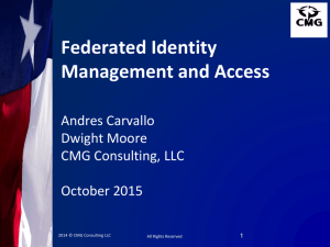 Federated Identity Management and Access