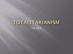 totalitarianism - Mr. Zittle's Classroom