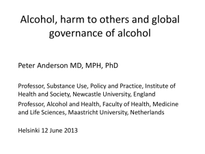 Six reasons for global governance of alcohol