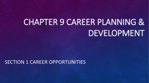 CHAPTER 9 Career planning & development