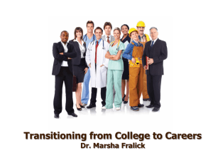 Transitioning from College to Careers