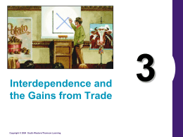 Comparative Advantage/Trade interdependence