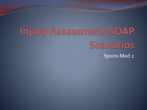 Injury Assessment SOAP Notes Scenarios