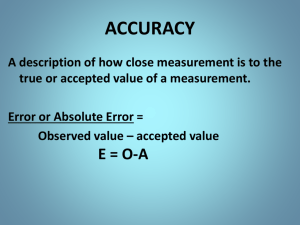 Accuracy and Precision and Sig Figs