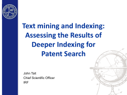 Text mining and Indexing