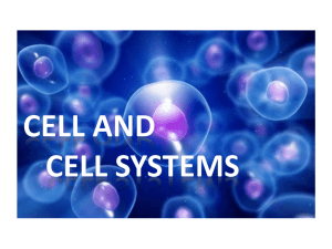 Cell and Cell Systems