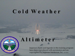 Cold WX & Altimeters