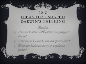 15-2 Ideas that shaped darwin*s thinking