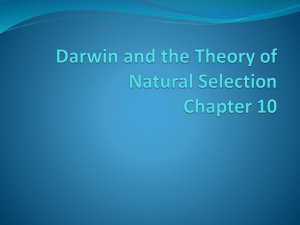 Chapter 10 Darwin_and_the_Theory_of_Natural_Selection