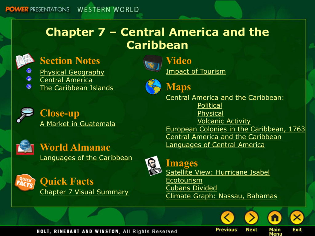 Image of: Chapter 7 Central America And The Caribbean