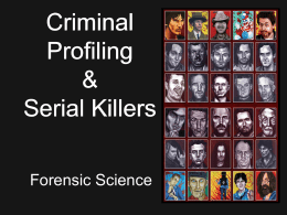 Criminal Profiling - The Naked Science Society