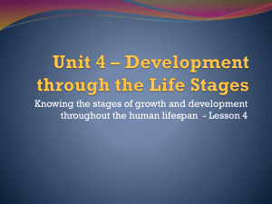 Unit 4 * Development through the Life Stages