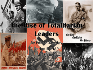 The Rise of Totalitarian Leaders - Oak Park Unified School District