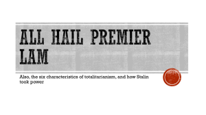 All Hail Premier Lam (and the Six Characteristics of Totalitarianism).