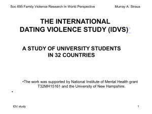 The International Dating Violence Study - Pubpages