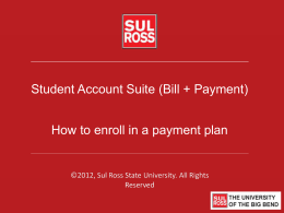 presentation title - Sul Ross State University