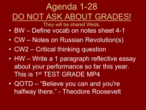 What was the Russian Revolution? Notes #42B