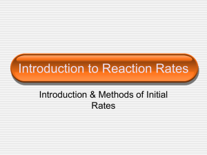 Introduction to Reaction Rates